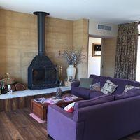Sitting Room at Ballarat Primavera with Wood Fire